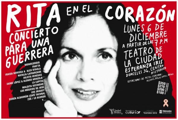 CONCIERTO EN APOYO A RITA GUERRERO6 Diciembre - Teatro de la Ciudad