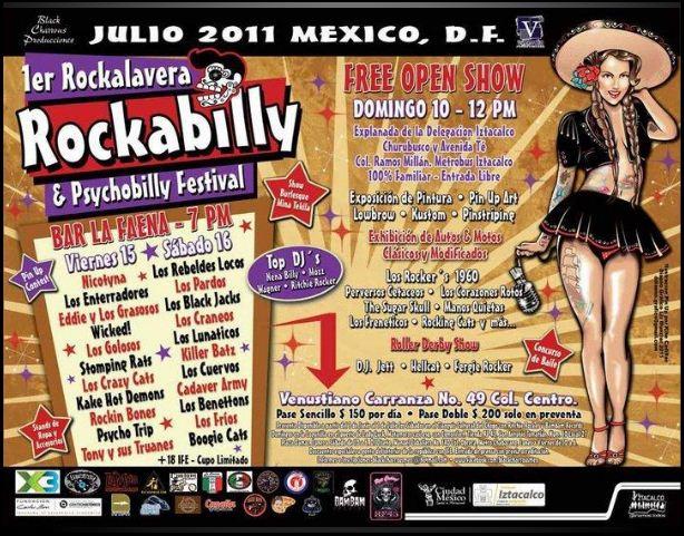 1ER ROCKALAVERARockabilly & Psychobilly Festival - 10, 15, 16 Julio
