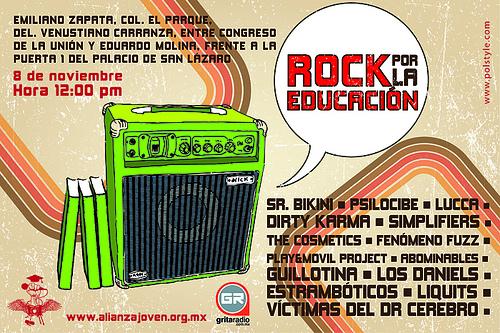 ROCK POR LA EDUCACIONGran concierto gratuito - 8 de Nov.,
