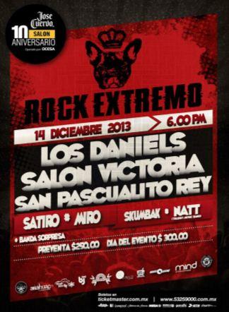 ROCK EXTREMOEn el José Cuervo Salón - 14 de Diciembre