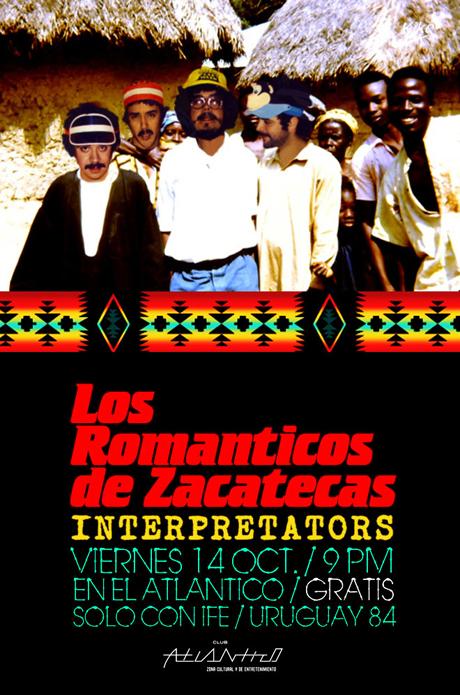 Los Románticos de Zacatecas e InterpretatorsClub Atlántico 14 Oct *Evento Gratuito*,