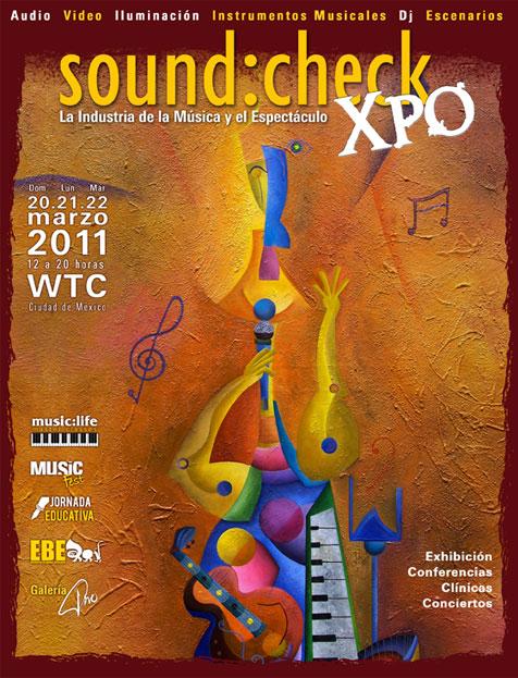 MUSIC FEST EN SOUNDCHECK XPO20, 21, y 22 Marzo en WTC, Panteón Rococó, Belanova y más,