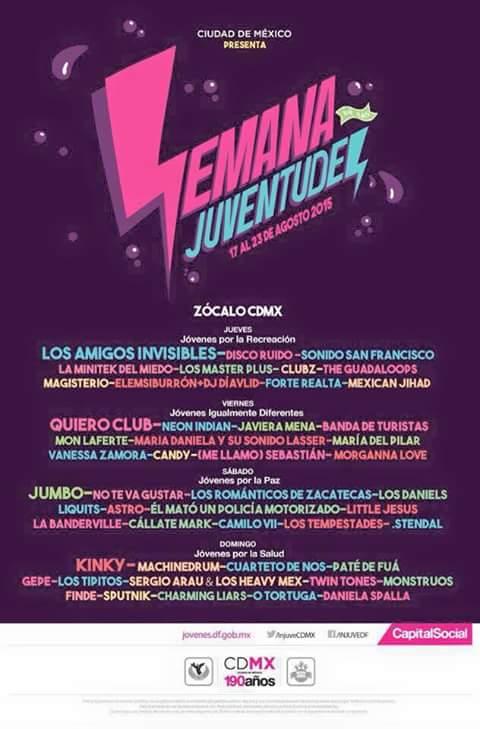 SEMANA DE LAS JUVENTUDES17 al 23 de Agosto CDMX