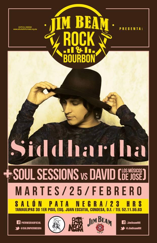 SIDDARTHA LLEGA AL SALON PATA NEGRA EN EL CICLO ROCK & BOURBON.Música