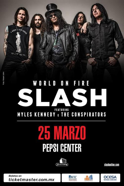 SLASH REGRESA A MEXICO3 Conciertos en Marzo,