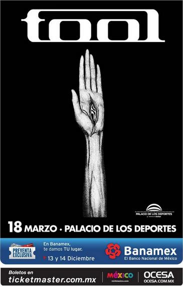 TOOL EN MEXICOD.F., Monterrey, Guadalajara y Cumbre Tajin.,