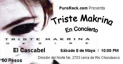 TRISTE MAKRINA8 de mayo, El Cascabel,