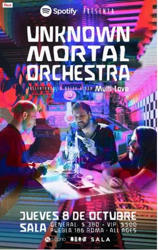 UNKNOWN MORTAL ORCHESTRA En México - 8 de Octubre,