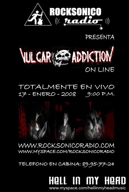 Entrevista con Vulgar Adiction en Pirata RadioPresentando su nueva produción
