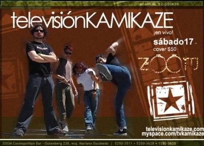 Televisión Kamikaze Zoom Cosmopolitan Bar