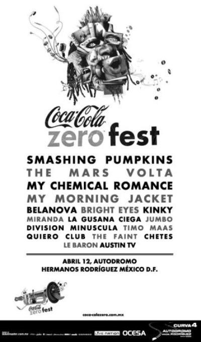 ZERO FEST DE COCA COLAPresenta a Smashing Pumpkins,