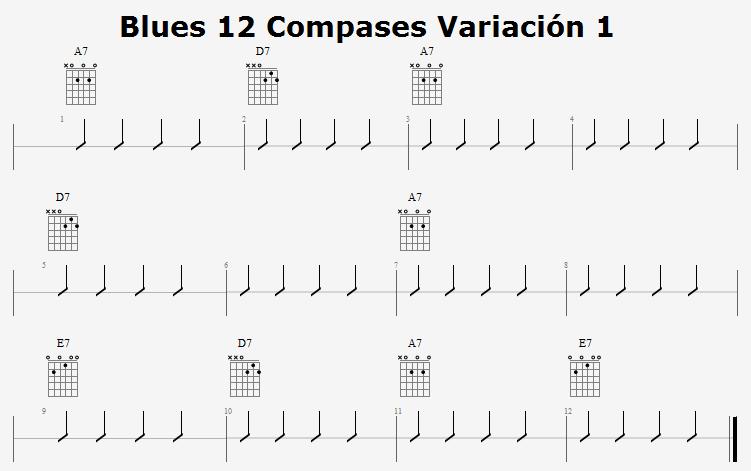 Blues 12 Compases Variación 1