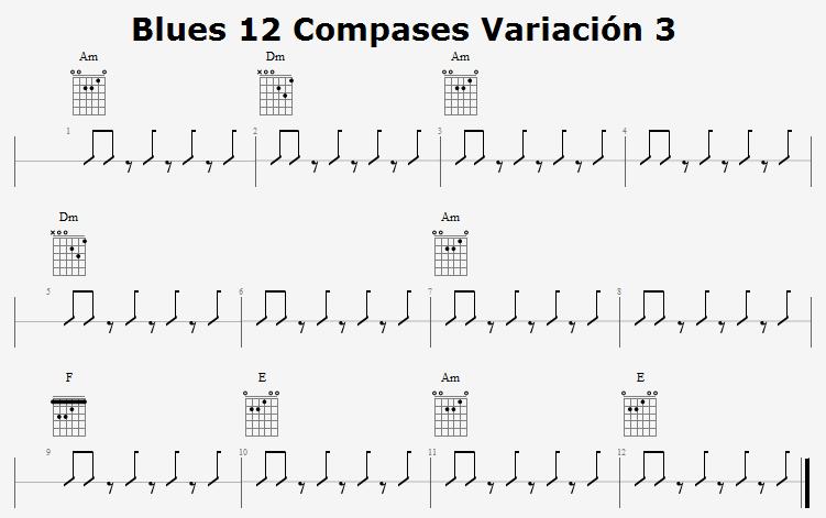 Blues 12 Compases Variación 3